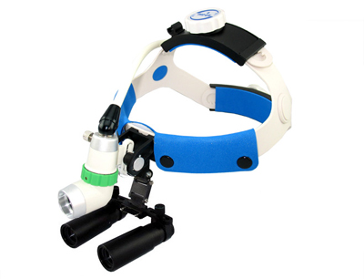 Fiberoptic Surgical Headlight + 4X Kepler Loupe Combination