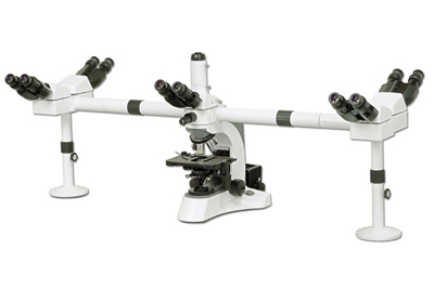 Multi-Viewing Microscope W/ Penta Viewing Heads
