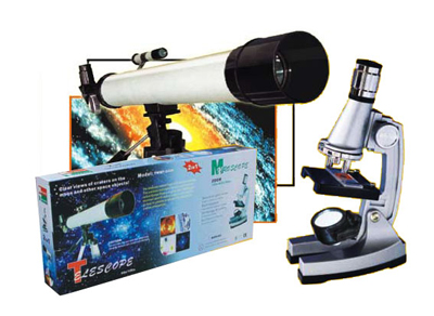 Microscope and Astronomy Telescope 2 in 1